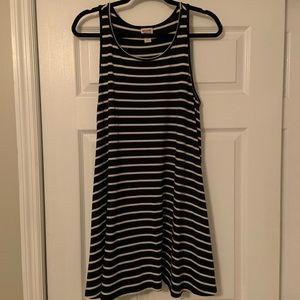 Mossimo Black & White Striped Tank Dress. Size L